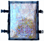 Blue Sky Blue A3 Map Pocket - Kneeboard