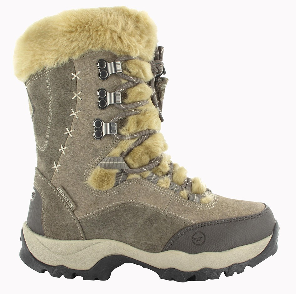 7cfb57cc377a3 Hi-Tec Ladies St. Moritz 200 Waterproof Thinsulate Snow Boots in  Biege-Charcoal